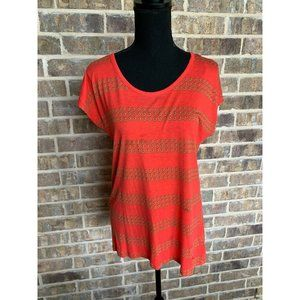 Michael Michael Kors coral and gold dot top small